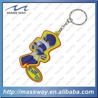 customized cartoon custom 3D Soft rubber PVC keyring