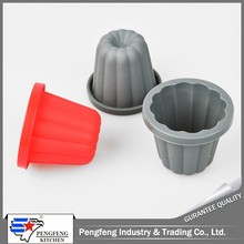 Deep shaped silicone baking cup mould