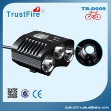 Road bike Led light TrustFire D009 led mountain bike light, bike light set with Rechargeable battery pack+Charger+Gift bag
