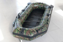 Inflatable Fishing Boat with Slat Floor or Air Mat Floor and Motor Mount Set