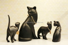 2015 new product resin small cat setting animal home decoration arts