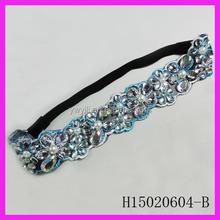 Lace headband with stones