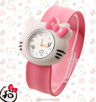 Popular eco-friend kids cartoon silicone slap watch, silicone smart watch for kids