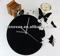 SH-46 Modern Butterfly Design Acrylic Decorative Wall Clock with Various Colors