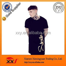 Online shopping austalia elongated t-shirt,oversized custom longline style t shirt for men wholesale clothing