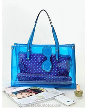 High Quality Large Clear PVC Tote Bag with Zipper Closure