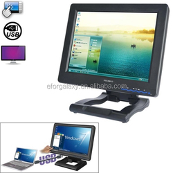 hot new products 12.1 Inch TFT LCD 4-Wire Resistive USB Powered Touchscreen Monitor for Computer