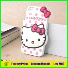 Hello kitty silicone 3d phone case for samsung galaxy J1 cell phone case