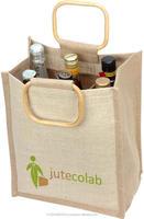 new design jute 6 bottle wine bag