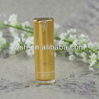 30ml round acrylic lotion bottle with collar in shiny gold