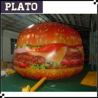 custom giant inflatable hamburgers warehouse, custom large hamburger inflatables models for sale
