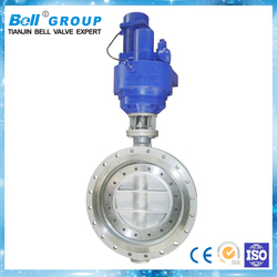 Electric Ductile Iron Double Flange Butterfly Valve