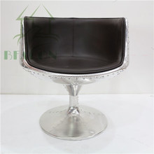 2015 Modern High Quality Fiberglass wine Cup Chair with Aluminum uphostery