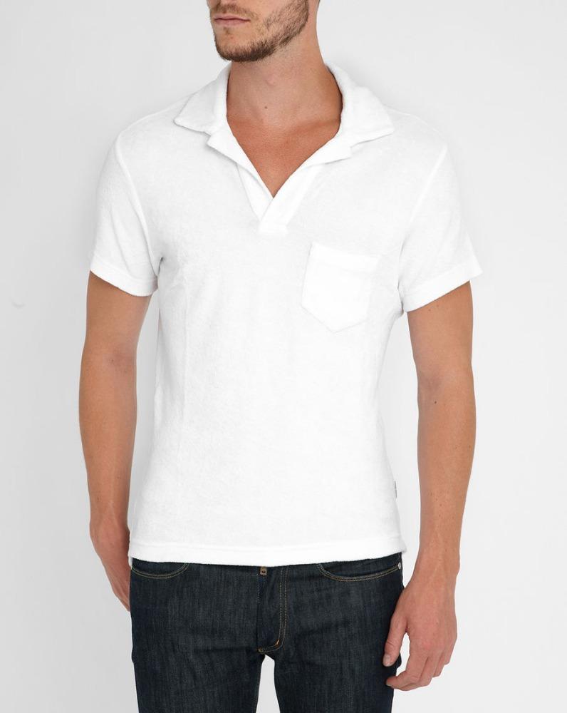 High quality custom men cotton plain white blank polo for Men s cotton polo shirts with pocket