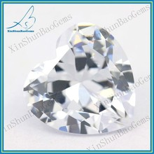 Synthetic Heart Shape White Cubic Zicronia Gems