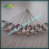 Fashion Accessories 51mm Clear Plastic Diamond Shape Glossy Plated Steel Decoration Hairpin For Bride