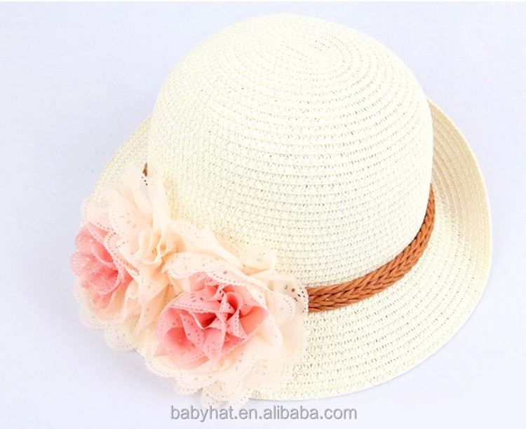 enfants enfants fille b b d 39 t plage papier chapeau de paille en plein air chapeau de paille. Black Bedroom Furniture Sets. Home Design Ideas