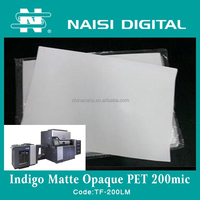 inkjet matte Opaque PET film 200mic for HP indigo