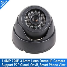 H.264 Mini IP Camera 720P 1280*720 Securiy HD Network CCTV Camera 1.0MP ir-cut onvif 2.3 p2p cloud support Phone Android IOS
