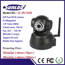 Promotion!!! Wireless IP Camera PC and mobile phone remote control PTZ