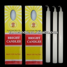 wholesale stick stearic pillar white candles/pure paraffin wax white stick candle
