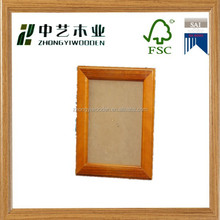 2015 year hot sell FSC wall hanging decorative pictures wooden photo frame with cheap price