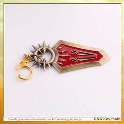 LOL0020 Manufacturers Selling Wholesale Game LOL Alloy Goddess Shield Model Key chain