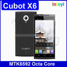 Original CUBOT X6 MTK6592 Octa Core Cell Phones 1GB RAM 16GB ROM 5.0Inch OGS Screen Android 4.2 13MP Camera Dual Sim Smartphone