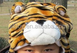 Winter Popular Hot sale kids and adult lovely and warm Tiger soft toy plush animal hat