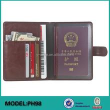 RFID Blocking Executive Travel Organizer Passport Case Cover Holder Wallet