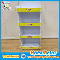 plastic counter display battery powered rotating display stand free standing display rack