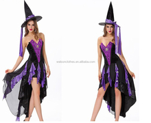 Walson Trade assurance Women's Charming Evening Enchantress Fairy Halloween Costume Cheap sexy Witch costume