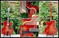 """17"""" de madera maciza guitarra jazz"""