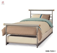 Cheap Metal Iron White/Pink/Black Queen Size Bed Trundle Bed