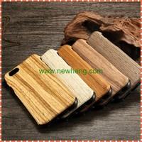 New Design wood grain tpu stick skin cover case For iphone 6