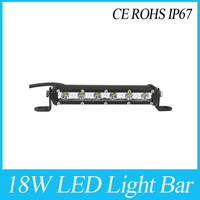 New product! Tuning lights 7inch 3W CR-EE single row led mini light bar 12v ip68 18W LED Light Bar 3W/LED Chip Mini led bar