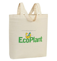 natural recycled cotton canvas tote bags