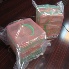 plastic lunch box /transparent 3 layer food container plastic