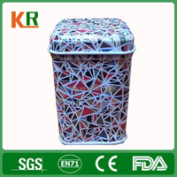 80x70mm metal coffee packing Biscuit tin tea canister