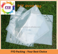 Heat Seal Transparent Plastic POF Bags For Rectangle Boxes
