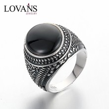 Gothic Style 925 Silver Mens Rings Vintage Style Jewelry SetSRG303W
