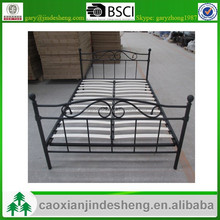 2015 new style metal frame wooden slat metal bed for europe and usa market