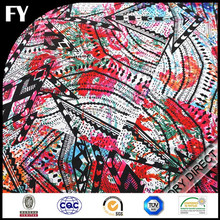 Custom high quality digital printed fabric cotton blue and white striped