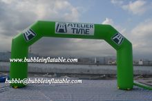 Green durable archway inflatable for sale/China good quality inflatable arches
