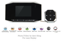 3.5 inch display High Definition Video recording Night Vision LED TF card Digital Peephole door viewer with doorbell