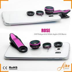 Smart phone camera lens 0.63x ultra wide angle selfie lens 198 degree fisheye lens for iPhone 6s samsung s6 htc one m8 lenovo k3