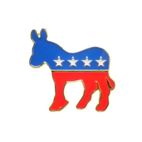 Soft enamel Political democratic,donkey patriotic lapel pin badge