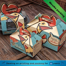 Colorful printed cardboard fried chicken take away box