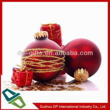 promotional logo printed plastic christmas ball ornament