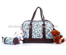 Fashion Set Baby Diaper Bag Wholesale Travel Mother Bag Cheap Nylon Changing Nappy Bag